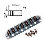 SMD MiniMelf Zenerdiode 22V 0.5W