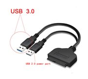 USB 3.0 SATA Cable SATA 3 to 2 x  USB 3.0 Adapter Computer Cables