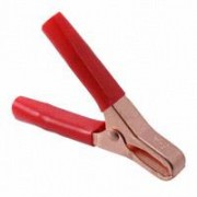 Mueller 46 A red isolated - crocodile clip