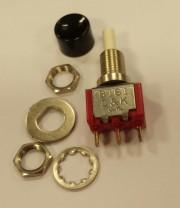 C&K 8161 J86 SP Pusbutton - Pushon / Push off black used - 4.90