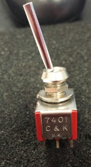 C7K 7401 switch On-None-On - 4P soldering Long flatted actuator P1