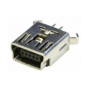 Chassis conn mini USB straight