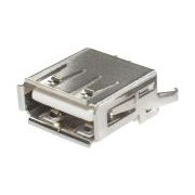 Chassis conn USB-A straight