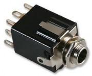 6.3mm jack stereo chassis - socket, solder female