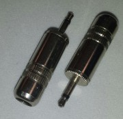 2,5mm jack male mono metal