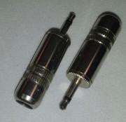 2,5mm jack male  mono metal