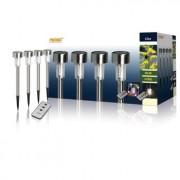 4 LED solar tuinlampen met ste