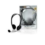 Stereo headset zwart - Deze stereo headset levert een goede geluidskwaliteit. De hoofdband is verstelbaar waardoor de headset op