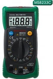 Mastech Multimeter MS8233C - Voltage: AC 600V / DC 600V Current DC 10A