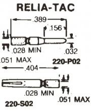 Ampenol socket crimp/solder - terminal gold over nickel 0.8Ømm /lenght 10.2mm / 4mm round /  220-S02-100 / 100 - 3.30