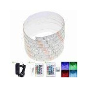 30W Waterproof RGB 5050 SMD LE - 30W Waterproof RGB 5050 SMD LED Light Strip 1500lm w/ R/C / Transformer (AC 100~240V / 2M)