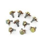 Mono Potentiometers 50K 15mm S - Mono Potentiometers 50K 15mm Short Shaft 3Pin     Price for quantity 5+ € 1,29
