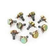 Single Resistor Potentiometers - Single Resistor Potentiometers 100K 15mm 3Pin Short Shaft    Price for quantity 5+ € 1,29