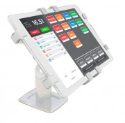 "Tablet Anti-Theeft Stand POS W - Tablet Anti-Theeft Stand For Point Of Sale Environments White - 150 Degree Swivel 7"" - 10.5"""