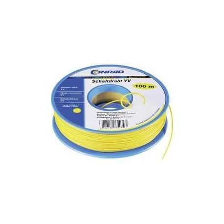 Jumper wire 0.20mm 100m - green/yellow