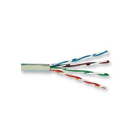 UTP cable solid bleu Cat5E - 2x4 AWG24 / 10 - 0.68 / 100-0.59