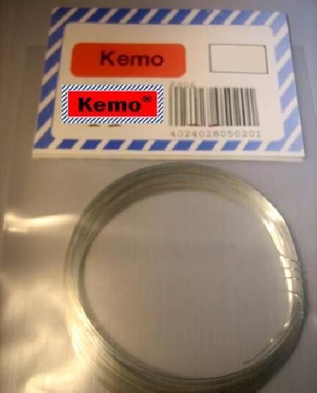 Silver-plated copper wire - ca 2mm - ca 0.8m