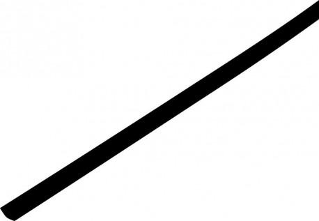 Shrink tube 2:1  1.5/0.6mm - black 1m