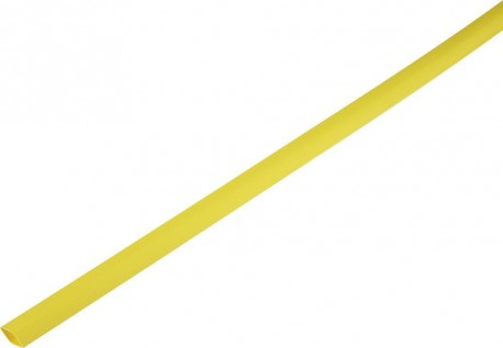 Shrink tube 2:1 1.5/0.6mm - yellow 1m