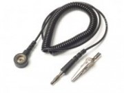 Coilcord 240cm with 3mm snap - with banana plug