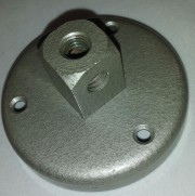 Universal base plate for - gooseneck microphone 2 x 3/8