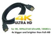 HDMI cable 2.0 UltraHD 4K 0.75m