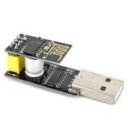 USB tp ESP-01 Adapter + Black ESP-01 ESP8266 Wi-Fi Wireless Module