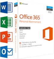 Microsoft Office 365 Personal 1-PC/MAC 1 jaar