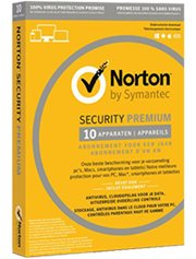 Norton Security Premium + Backup 25 GB 10-Devices 1 jaar