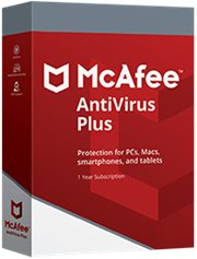 McAfee AntiVirus Plus 3-PC 1 jaar