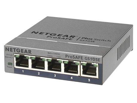 Netgear GS105E 5-port Gibabit Ethernet Switch